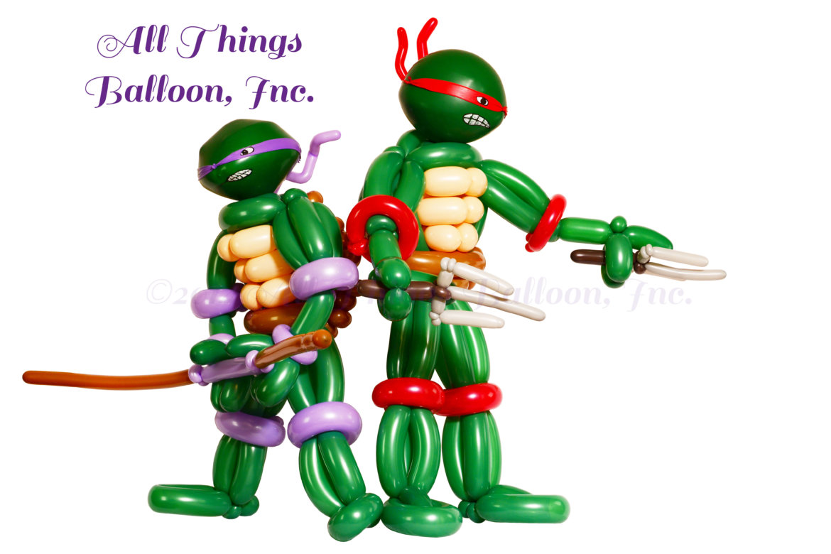 balloon artist - Teenage Mutant Ninja Turtles balloon sculptures