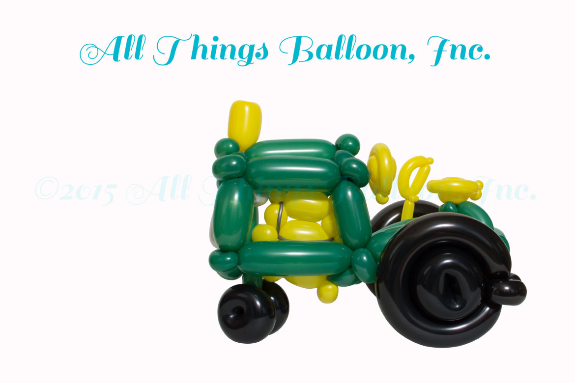 balloon artist: kid's party: balloon tractor