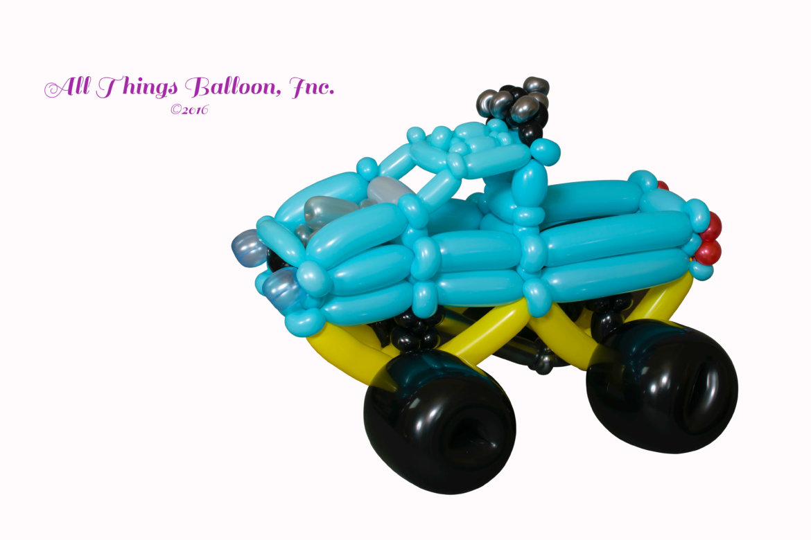 Kids Birthday event - balloon artist: balloon monster truck