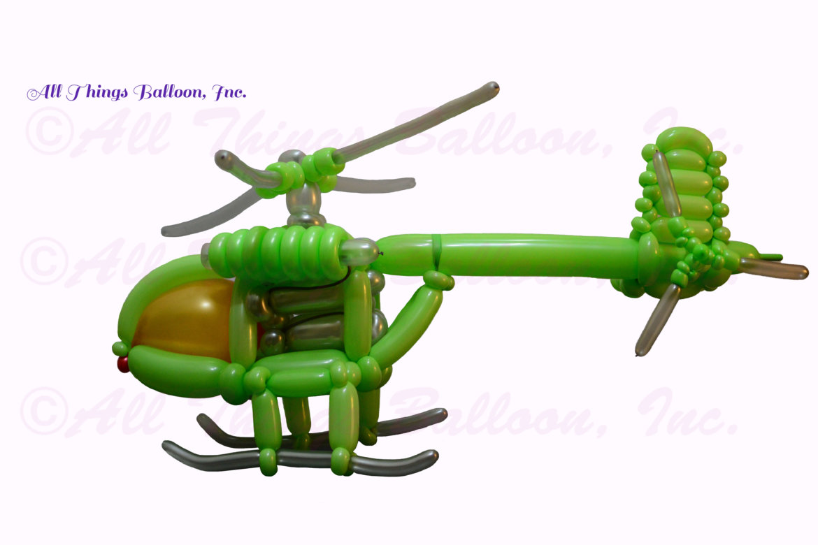 balloon artist- balloon helicopter for kid's birthday party
