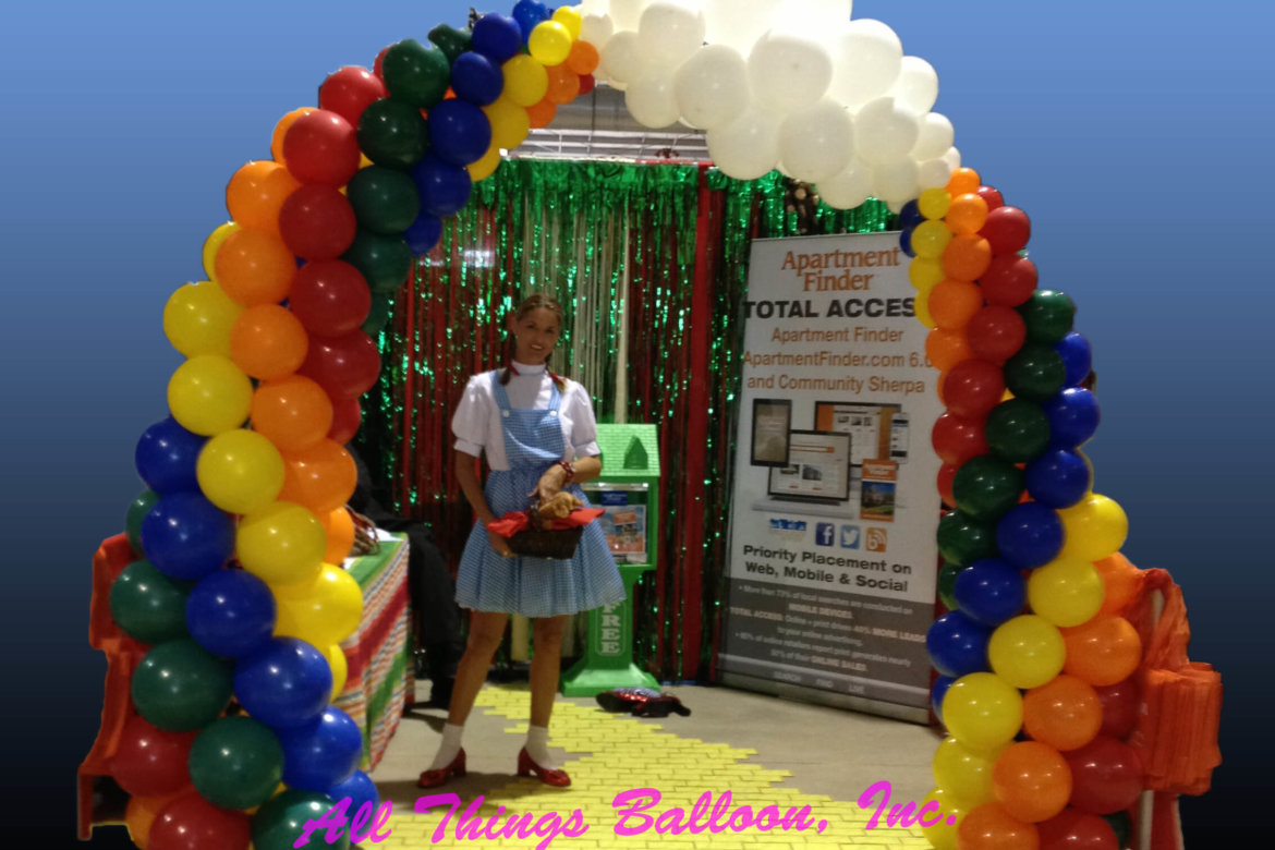 balloon decor - Over the Rainbow arch