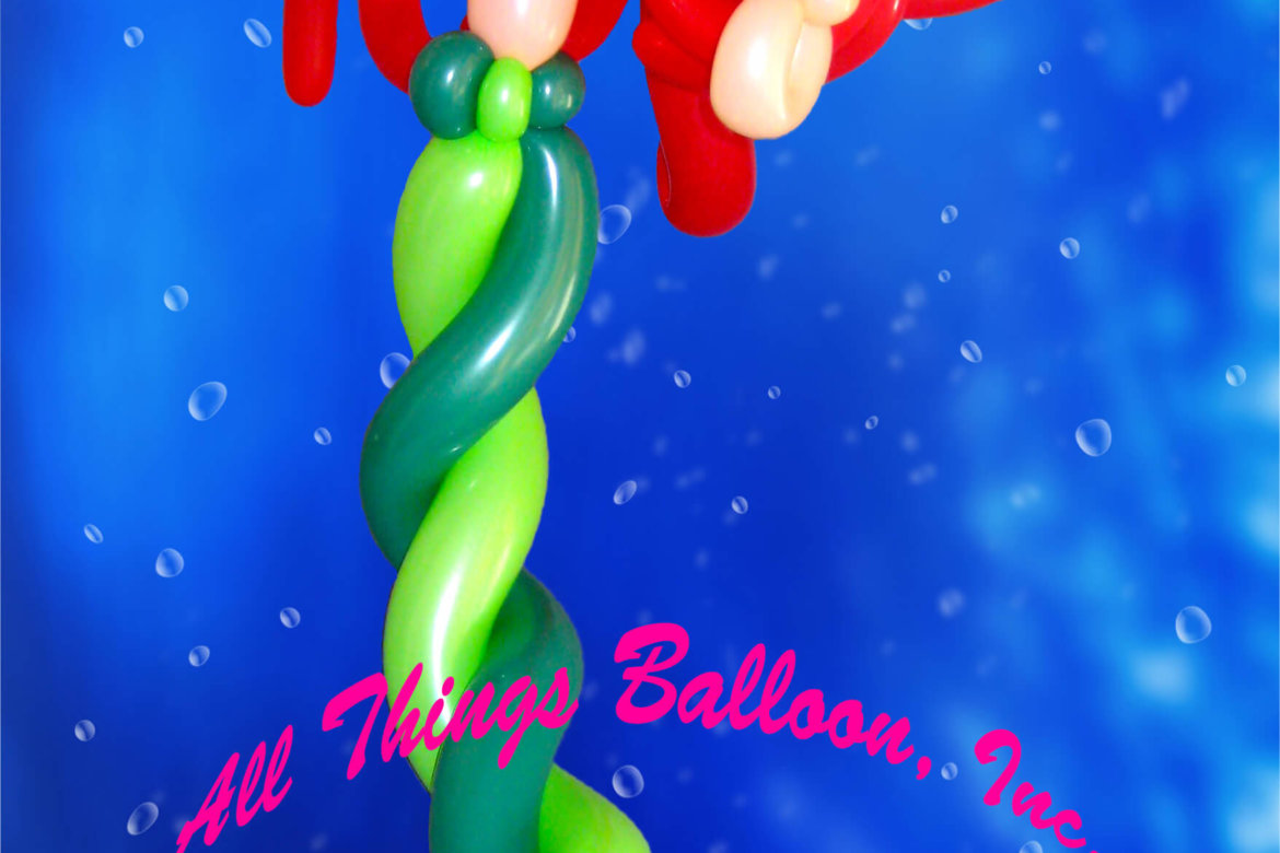 balloon artist- balloon Ariel mermaid created for kid's birthday party