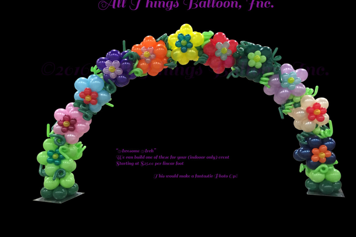 balloon Decorator - balloon Flower Arch