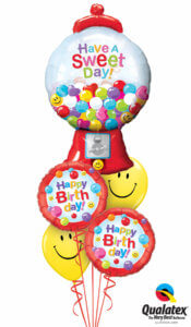 "balloon bouquet - Happy Birthday - ""Gumballs"""