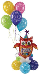 "balloon bouquet - Happy Birthday - ""Owl 1"""