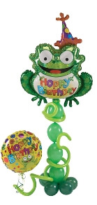"balloon bouquet - Hoppy Birthday - ""Frog"""