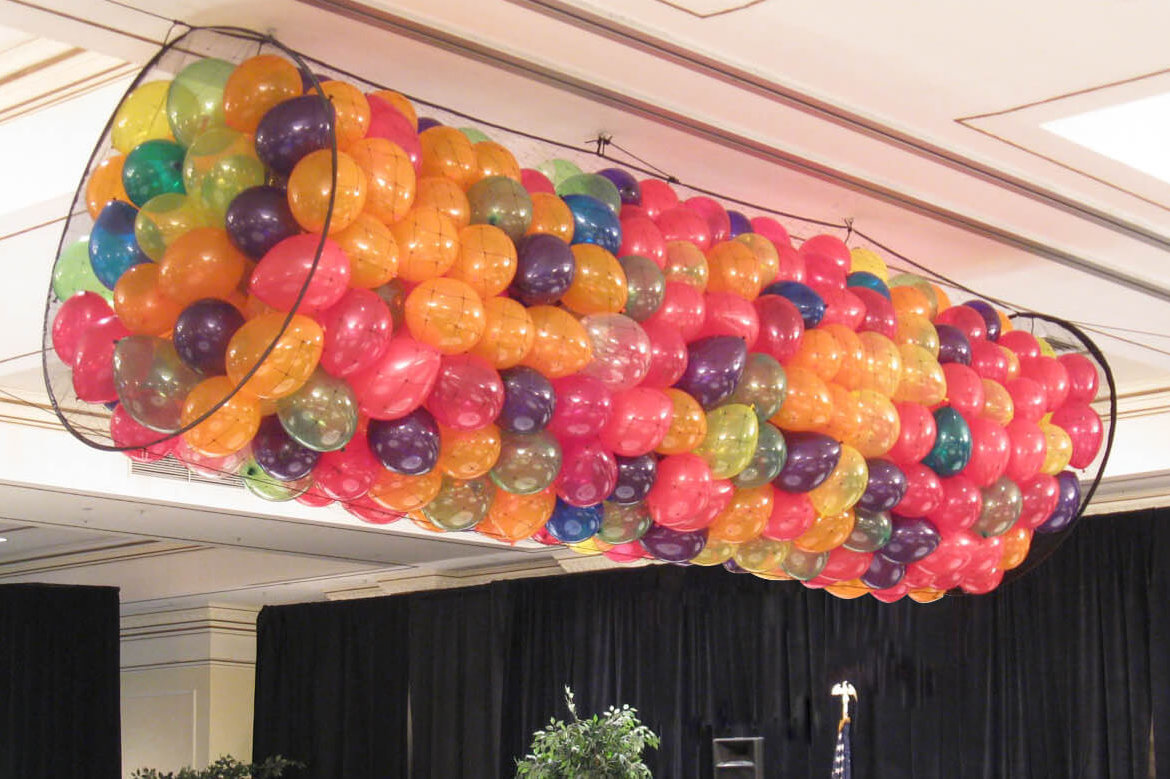 "All Things Balloon now offers Balloon Drops--make your next event ""POP!"""