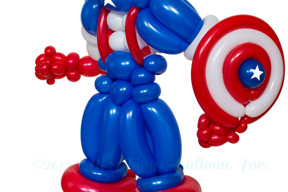 Birthday Party: Balloon artist: balloon Captain America with shield