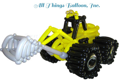 balloon artist- balloon CAT front loader for kid's birthday party