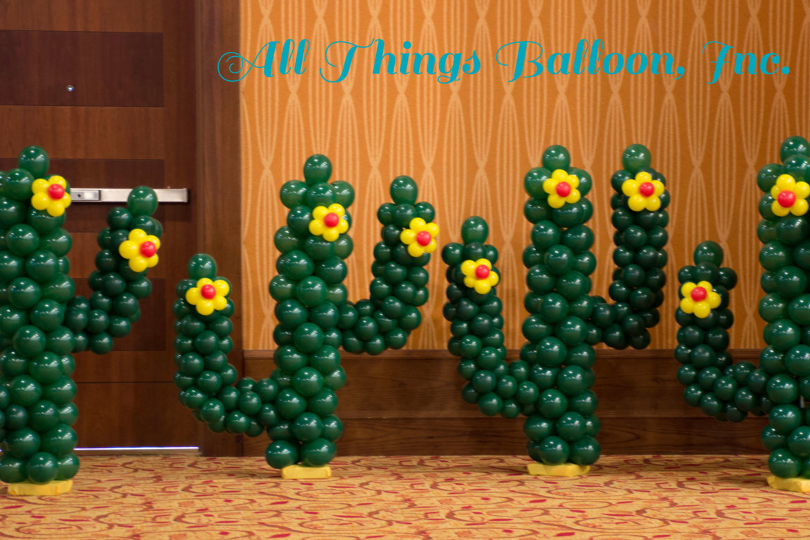 balloon decorator - balloon cactus
