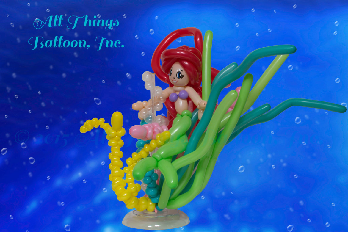 balloon decorator - Centerpiece - Mermaid