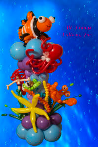 Balloon Decoration - Balloon column - Under the sea theme