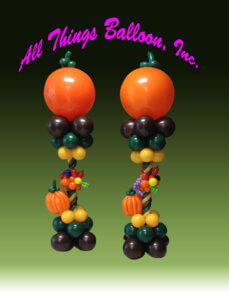 balloon decor - balloon columns for Fall
