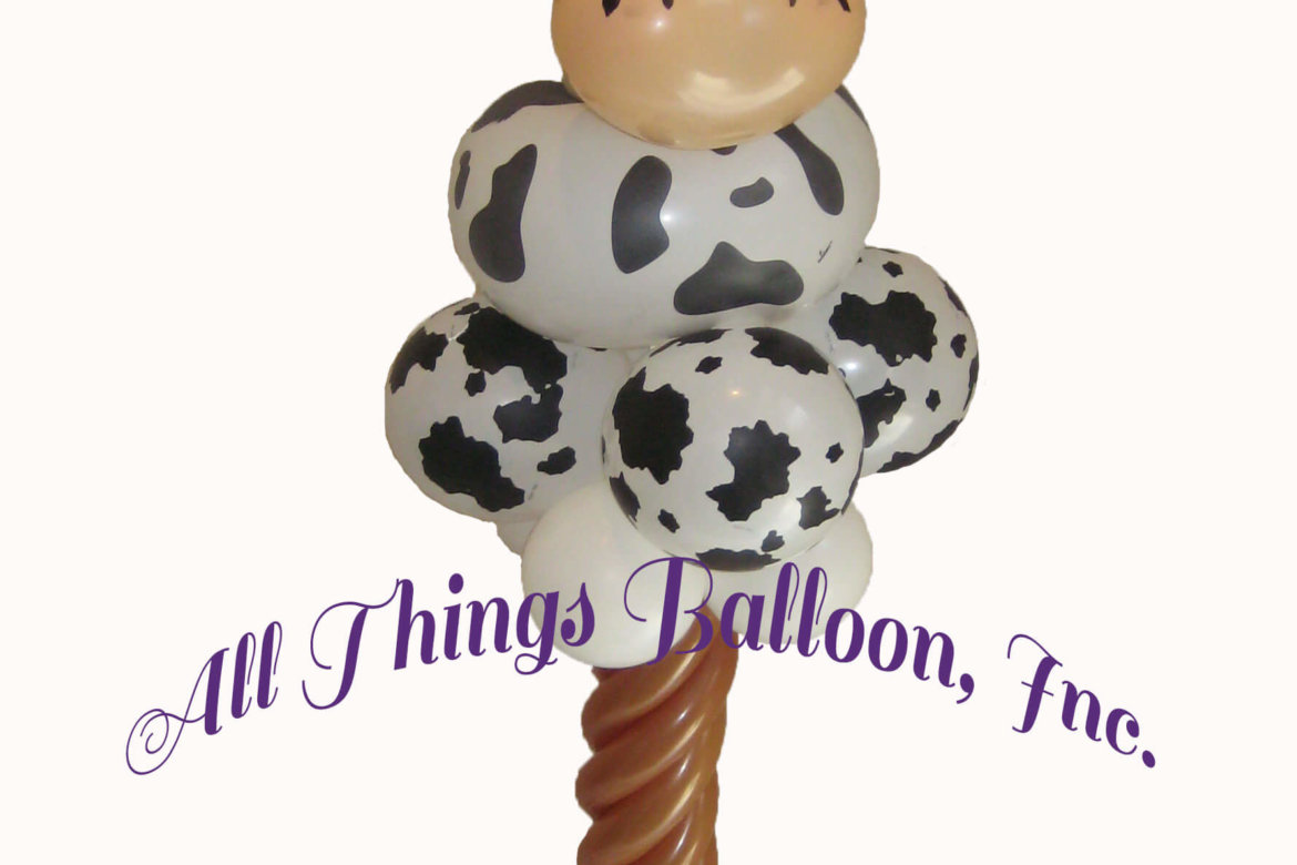 balloon decorator - balloon cow column