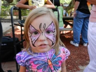 face paint - butterfly