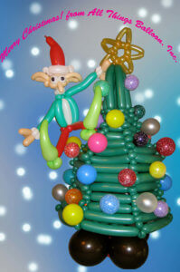 Christmas - balloon Christmas tree with balloon elf
