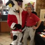 Events - Ernie with Chick Fil A Cow character