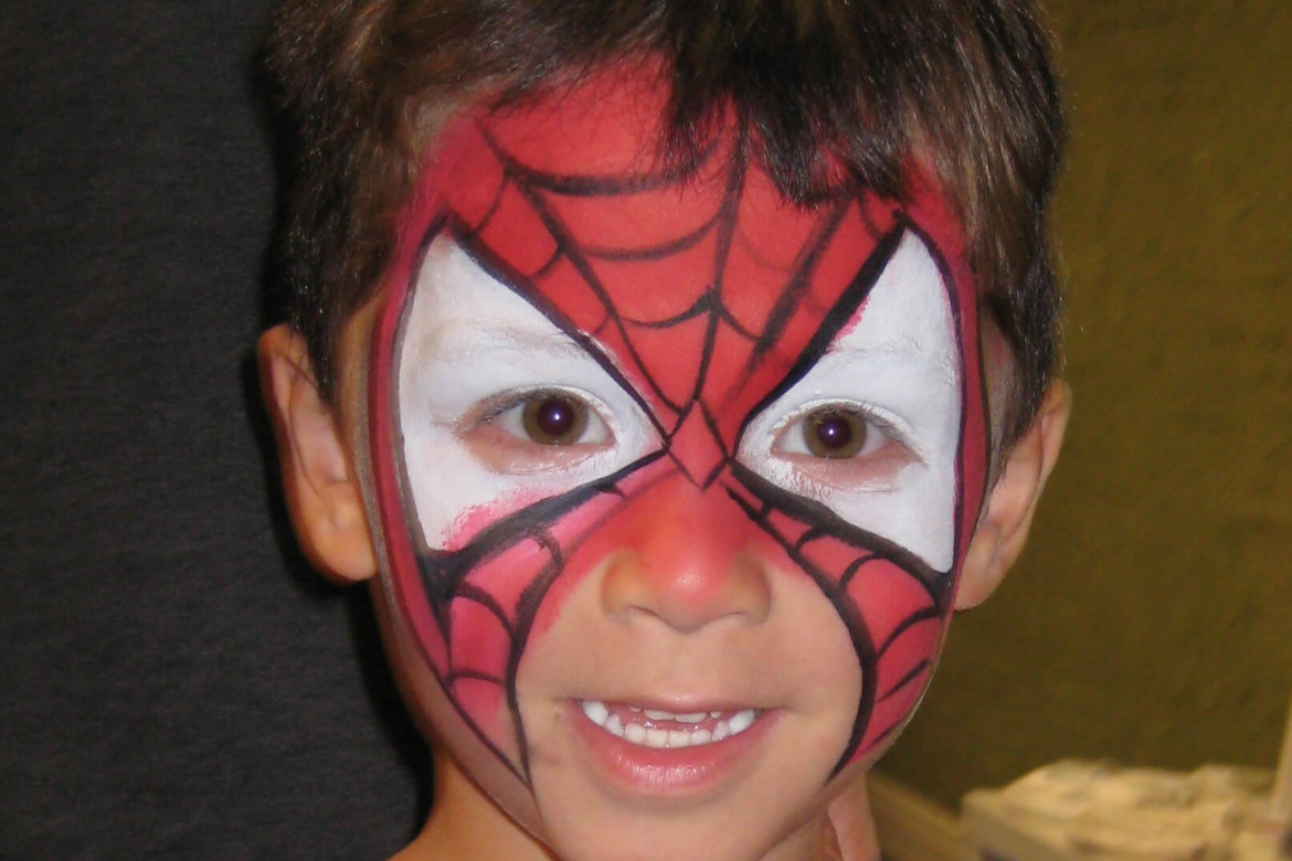face painter - spider guy