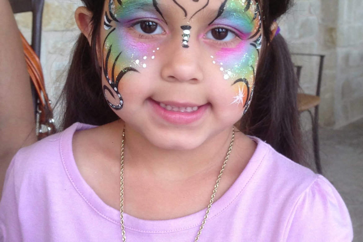 face painter - butterfly