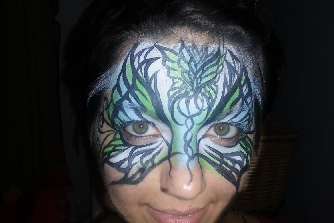 Birthday party; Face Painter; exotic butterfly