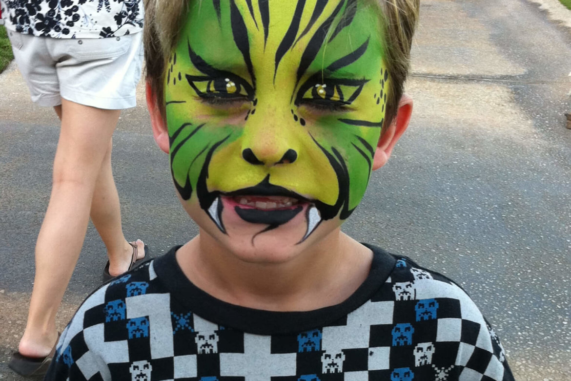 Face paint - Green Tiger
