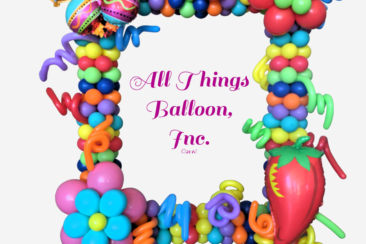balloon decor - Fiesta Photo Frame