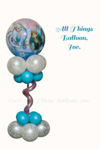 "Balloon Decorator; balloon centerpiece - ""Frozen theme"""