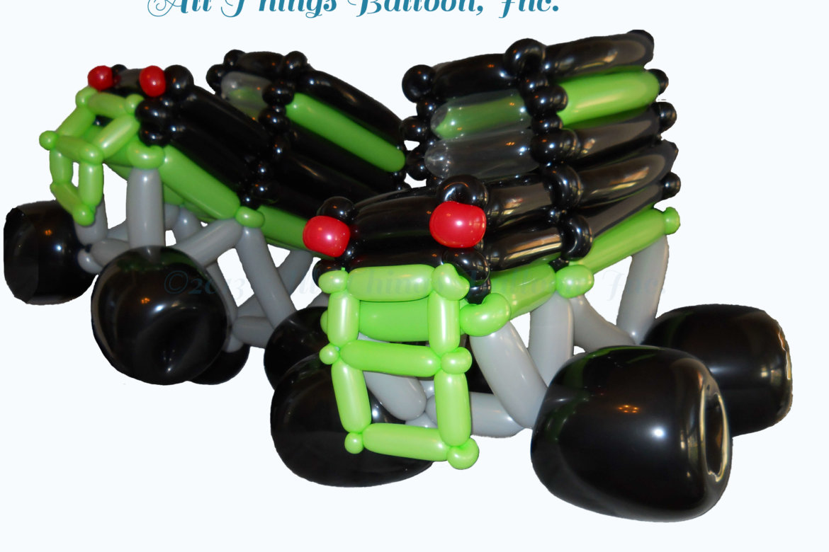 Balloon artist - balloon monster trucks for kid's birthday party