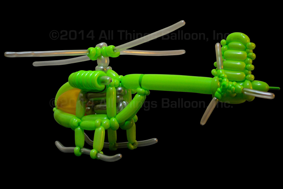 Birthday event - balloon helicopter