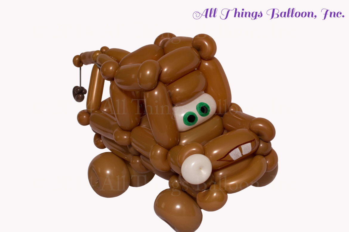 balloon artist - balloon Mater tow truck for kid's birthday party