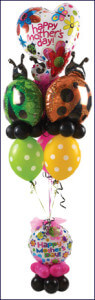 "balloon bouquet - Mother's Day - ""Lady Bugs 1"""