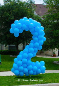 "balloon decor - lawn number ""2"""