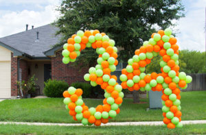 """balloon decor - lawn number """"3"""" and """"4"""""""
