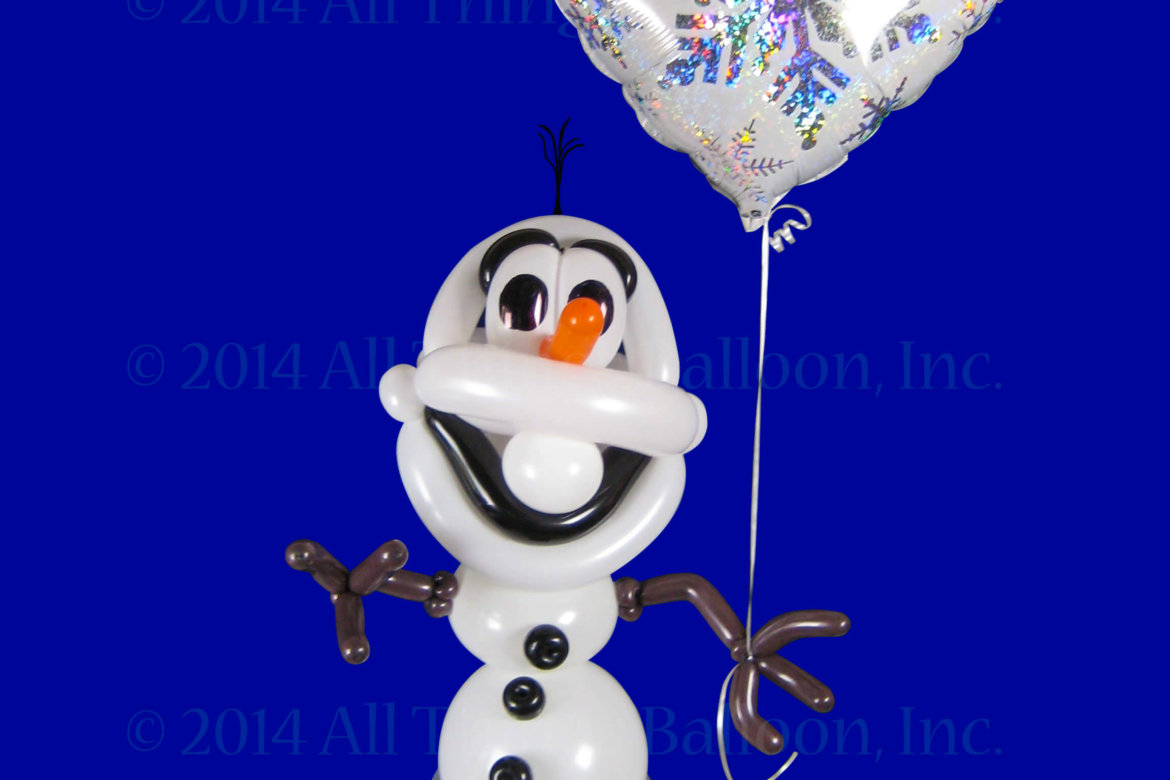 kids party - balloon snowman Olaf