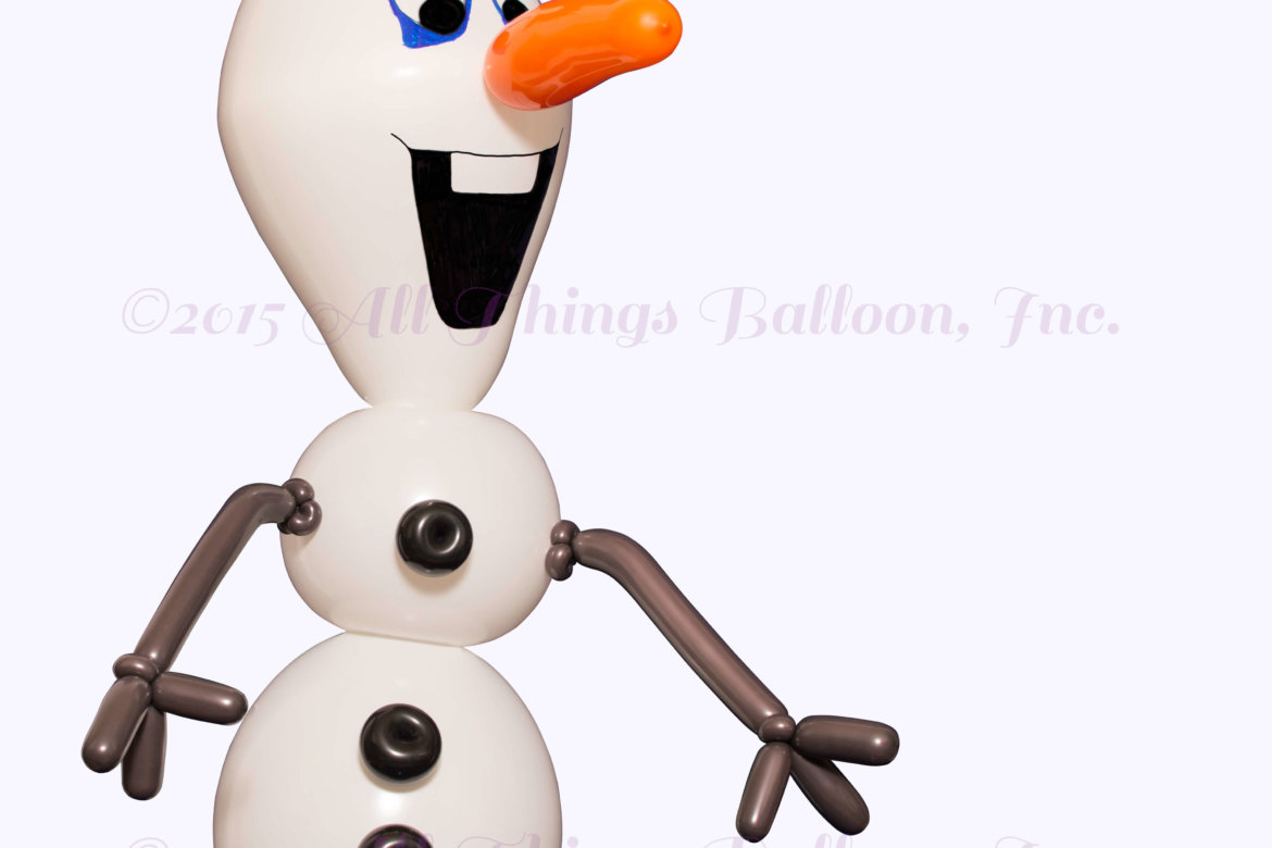 kids party - balloon Olaf balloon sculpture