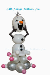 balloon decoration - balloon delivery piece; balloon parody of Olaf snowman
