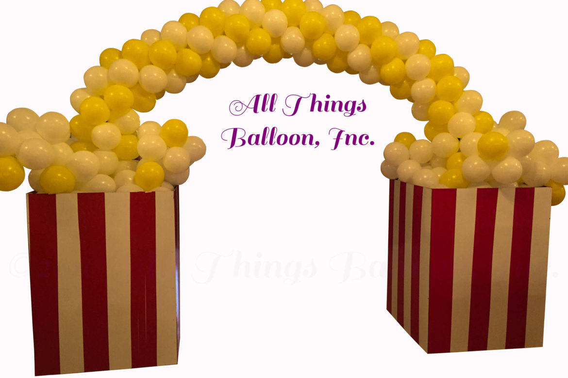 balloon decor - balloon popcorn arch