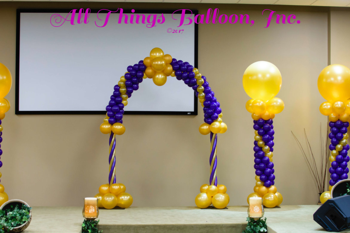 balloon decor - balloon arch and balloon columns
