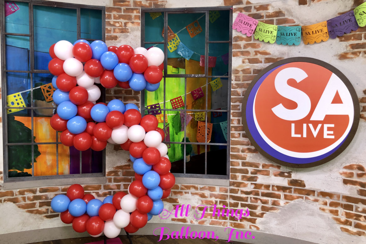 Large Number 5 --balloons to match TV show logo