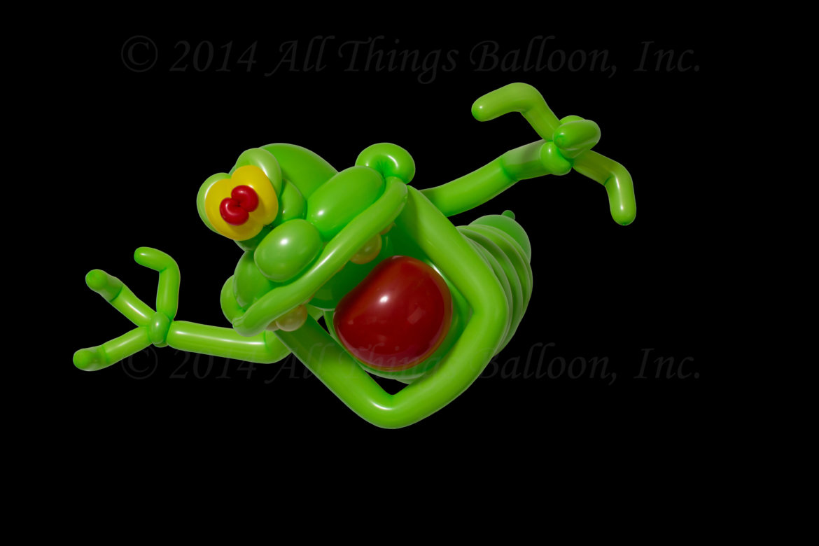 balloon artist - balloon charachter - Slimer from Ghost Busters balloon