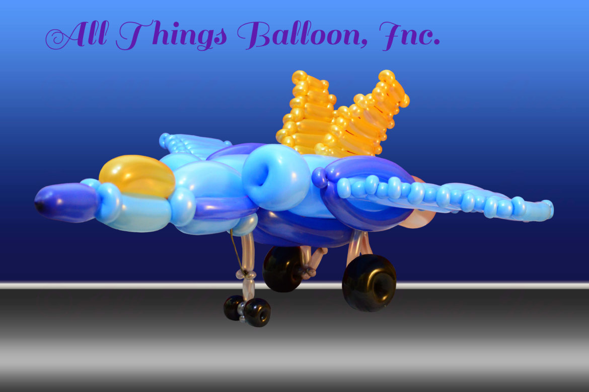 balloon artist- balloon jet fighter for kid's birthday party